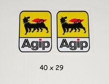 Agip - Aufkleber LAMINIERT high quality Sticker Benzin Motorsport Formel 1 ENI