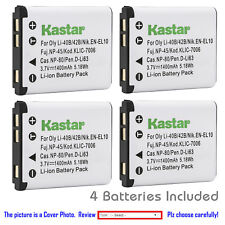 Kastar Replacement Battery for Fuji NP-45 NP-45B BC-45B Fujifilm FinePix JZ100
