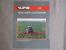 Vintage WHITE Farm Equipment 378 Cultivator sales Brochure Tractor 1970's