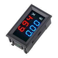 DC 0-100V 0-10A Voltmeter Ammeter Blue+Red LED Amp Dual Digital Volt Meter Gauge
