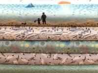 Lewis and Irene 'From Old Harry Rocks' Collection 100% Cotton fabrics Fat Qua...