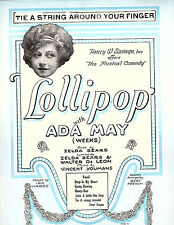 TIE A STRING AROUND YOUR FINGER-Featuring ADA MAY-Sheet music-1924-VG