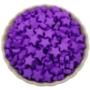 50Pcs 9mm Star Shape Acrylic Loose Beads DIY Jewelry Accessories Findings