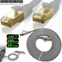 RJ45 CAT7 Network LAN Ethernet SSTP 10Gbps Gigabit Patch Flat Cable 1M To 5M Lot