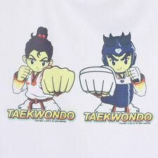 Taekwondo White Summer Unisex-Clothing Children Short Sleeve Round T-Shirt Kids