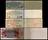 50 Mrd - 500 Bill. Mark - Reichsbanknoten 26.10.1923 - 9. Ausgabe - Reproduktion