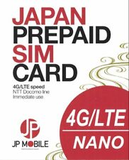 JP Mobile Japan Travel SIM 31 days. RECHARGEABLE! comes with Max 7GB LTE/4G data