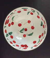 """Pottery Barn Cherry Enamel Serve Bowl ~ 10"""" x 4.5"""" ~ New with Tags"""