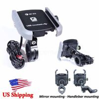 Cell Phone Holder USB Charger For Harley Davidson Sportster XL 883 1200 US Stock