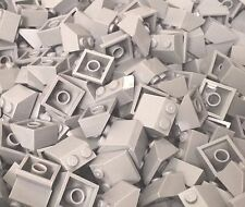 Lego x50 pc. light bluish gray 2x2 Slope 45° medium stone gray parts lot (#3039)