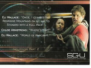 Stargate Universe SGU Season One Quotable Eli Insert Trading Card #Q9