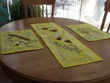 Placemats And Table Runner Set - Yellow