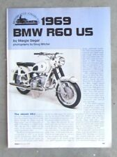 BMW R60 600 1969 Original Magazine Classic Vintage Motorcycle Review Article