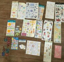 Baby Scrapbook Stickers lot 17 pages paper craft infant newborn childhood family