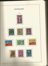 LIECHTENSTEIN 1959/16 COLLEZIONE COMPLETA NUOVA IN 2 CARTELLE  FOGLI LEUCHTTURM