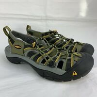 Men's Keen Sandals Size US 8 Newport H2 Waterproof Sport Fisherman Hiking Green