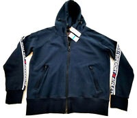 new SUPERDRY men military jacket hoodie navy L MSRP $98