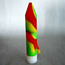 """Silicone 7"""" Herb Grinder Air Tight Smell Proof Storage Red, Yellow & Green RASTA"""