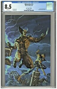 Wolverine #13 CGC 8.5 Ngu Virgin Variant Cover Connecting Edition BTC Cable