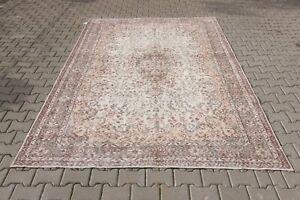 Oushak 7x11ft,Turkish Rug,vintage,anatolian,BEIGE RUG,Bohemian,handmade,wool