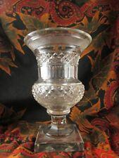 ancien petit vase XIXe cristal creusot taillé forme medicis 14.5cm