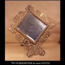 Large Antique Victorian Cast Iron Rococco Easel Back Picture Frame