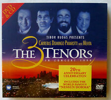 THE 3 TENORS IN CONCERT 1994 DVD/CD Carrera Domingo Pavarotti 20th Anniversary