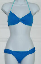 Polo RALPH LAUREN Reversible Blue Aqua Halter Bikini Swimsuit Sz XS (K25)