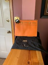 FRYE Orange Harness Stud Leather Pouch $158 NWTS