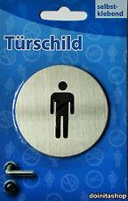 Türschild Hundeverbot - WC Toilette - Herren Edelstahl