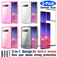 For Samsung Galaxy S10/S10e/S10+ Plus Clear Hybrid Rugged Hard Phone Case Cover