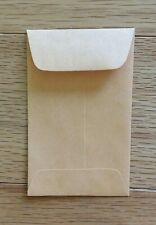 """New listing 30 Universal Kraft Coin Envelopes #1 Size 2.25"""" By 3.5"""" With Gummed Flap"""