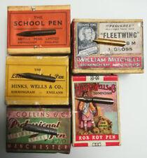5 verschiedene Schreibfedern, Pen, Nibs, Plume, Pennini, Kalligraphie, Set 10
