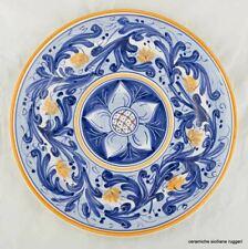 Ceramiche Siciliane Ruggeri - Piatto d'autore da muro - Margherita di Navarra