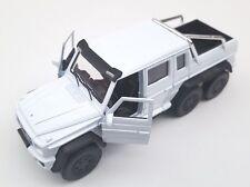Livraison rapide MERCEDES G 63 AMG 6x6 weis/white welly modèle auto 1:34 nouveau OVP