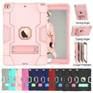 For iPad 8th 7th Gen 10.2 2020 Shockproo Heavy Duty Hard Rubber Cover Stand Case