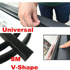 8M Car Door Window Trim Edge Moulding Rubber Noise Weatherstrip Seal Strip Black