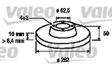 VALEO Juego de 2 discos freno Trasero 262mm MERCEDES-BENZ SPRINTER 197029