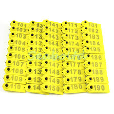 NEW! 101-200 Number Goat Sheep Pig Plastic Livestock Ear Tag With Yellow Color