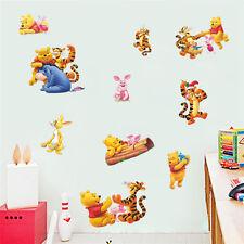 Winnie The Pooh Wall Decals Kids Bedroom Stickers Baby Nursery Decor Mural Art