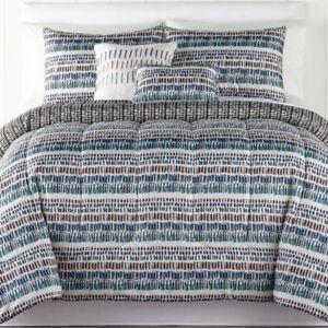 Keyes 5 piece Wrinkle- Resistant Comforter Set - KING