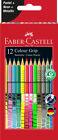 12 Zeichenstifte Malstifte Buntstifte farbsortiert Colour Grip Faber-Castell
