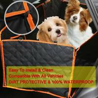 Pet Car Seat Cover Dog Safety Protector Mat Rear Back Seat Hammock Cushion MatUK