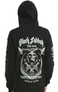 Black Sabbath THE END WORLD TOUR Zip Up Hoodie Sweatshirt NEW 100% Authentic