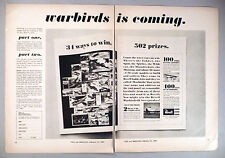 Revell Warbirds Model Kit 2-Page PRINT AD - 1966 ~~ kits, plane, airplane