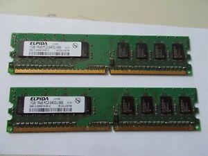 Elpida 2 X 1GB 1Rx8 PC2-6400U-666 EBE10UE8AEFA-8G-E, Sdram RAM DDR2, #SU169