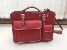 Laptop/ipad de cuero agradable/Hombro Bolso De Transporte En Rojo