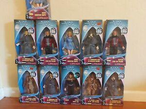 "LOT of (11) Star Trek Figures Target Starfleet  Command Playmates 9"" NIB"