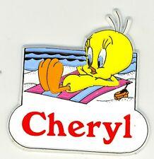 Tweety Bird Name Magnet ~ Cheryl ~ Looney Tunes Collectible ~ Stocking Stuffer