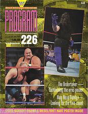 WWF Wrestling Program Magazine Volume 226 The Undertaker King Kong Bundy WWE
